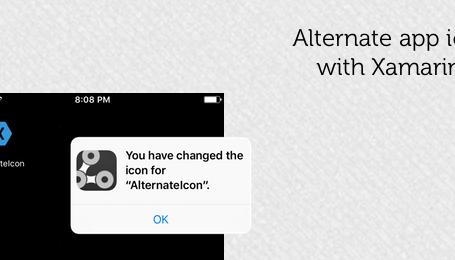 Set alternate app icons in iOS 10 3 using Xamarin iOS