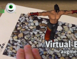 Virtual buttons in Augmented Reality with Vuforia