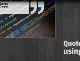 jQuery quickie: Smooth animated quote display