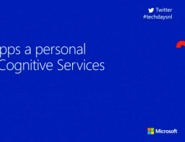 Presentation: Give your Apps a Personal Touch with Cognitive Services