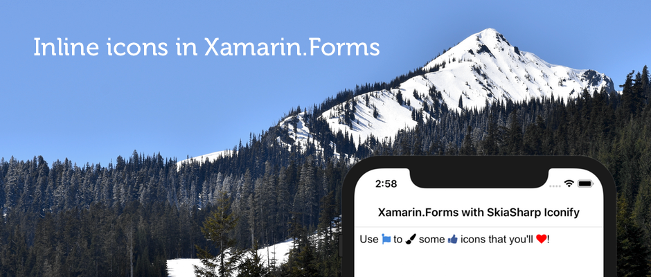 Use inline icons in Xamarin Forms with SkiaSharp Iconify