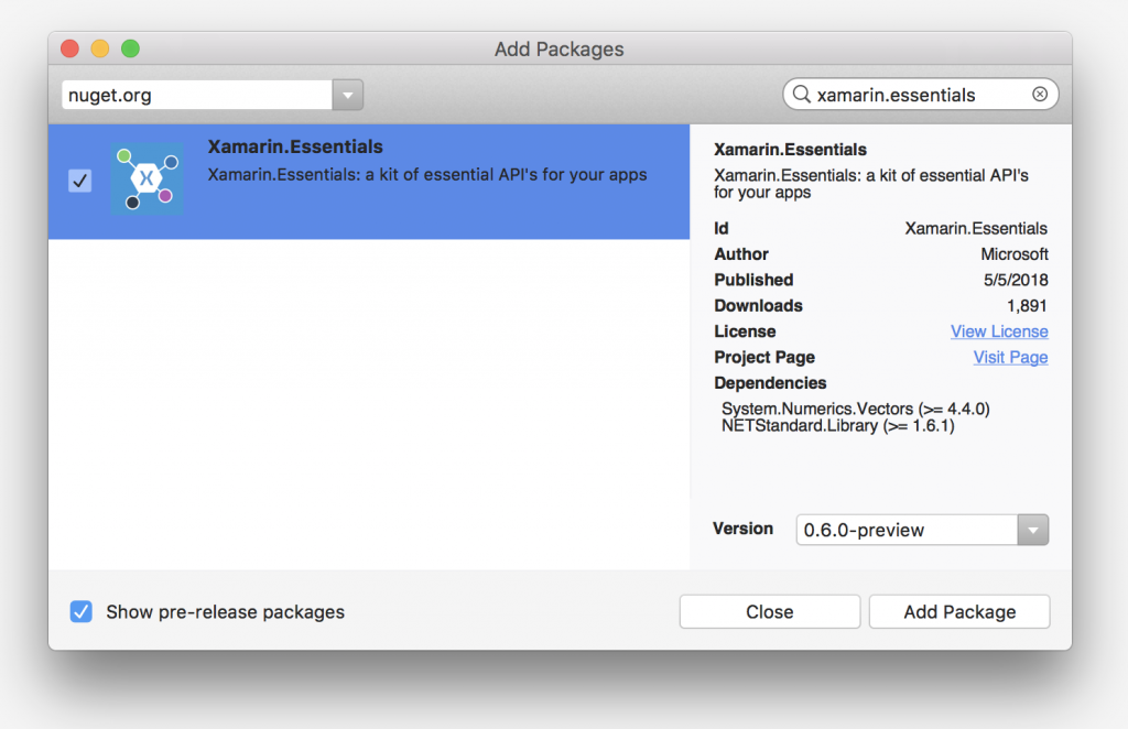First look at Xamarin Essentials, a library to access native